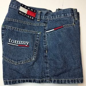TOMMY HILFIGER Vtg 90s MOM Jeans DENIM SHORTS  9